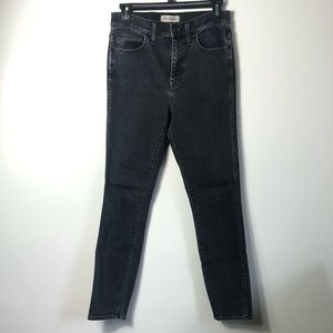 Madewell black High rise skinny jeans size 27